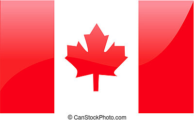 vlag, vector, illustratie, canadees