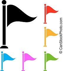 vlag, vector, pictogram