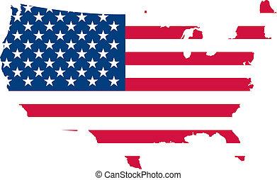 vlag, verenigd, amerika