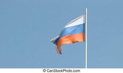 vlag, vliegen, rusland