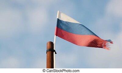 vlag, vliegen, rusland, wind