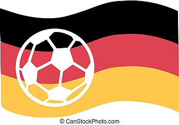 vlag, voetbal, duitsland, bal