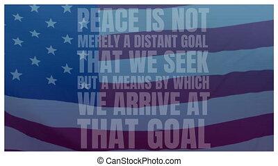 vlag, vrede, amerikaan, noteren