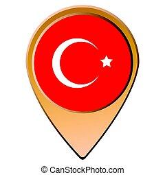 vlag, Vrijstaand, turkse