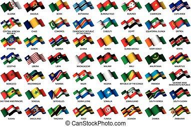 vlaggen, afrikaan