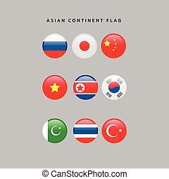 vlaggen, aziaat
