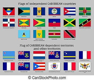 vlaggen, de caraïben, landen