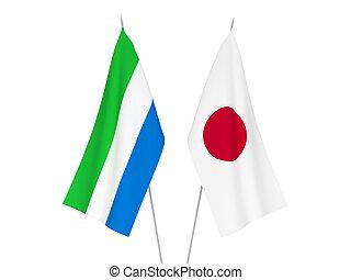 vlaggen, japan, sierra leone