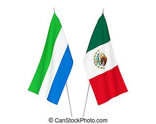 vlaggen, sierra leone, mexico