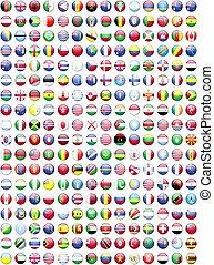 vlaggen, van, de, wereld, landen