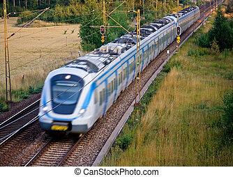 vlak pro dojíždějící