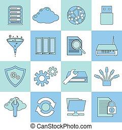 vlake lijn, databank, iconen
