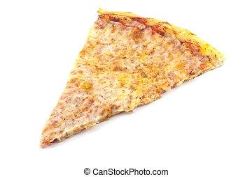 vlakte, snede, pizza