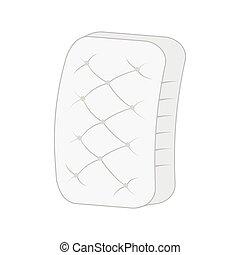 vlakte, witte , mattress.