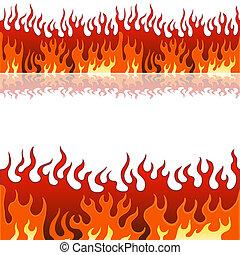 vlam, set, spandoek