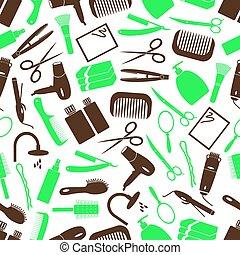 vlas péče, námět, barva, jednoduchý ikona, seamless, model, eps10