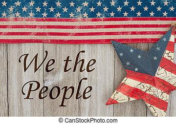 vlastenecký, poselství, amerika