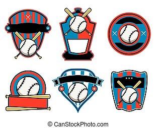 vleermuis, honkbal, emblems, kentekens