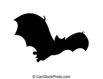 vleermuis, silhouette, tijdens de vlucht, clipart