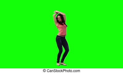 vlek, vrouw dansen