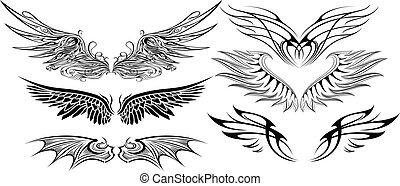 vleugel, set