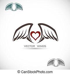 vleugels, etiket