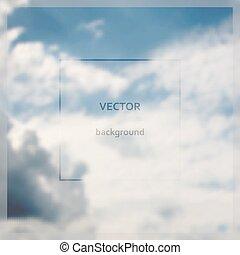vlieg, op, abstract, blurry, hemel, achtergrond.