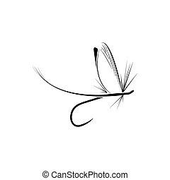 vlieg visserij, pictogram