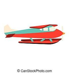 vlieg, water, hydroplane, seaplane