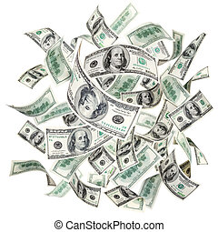 vliegen, amerikaanse dollars