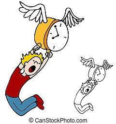 vliegen, tijd