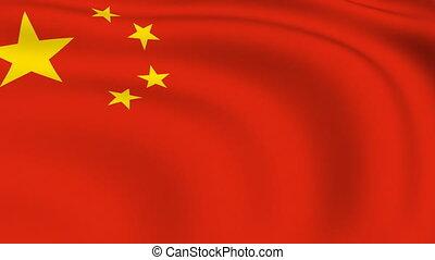 vliegen, vlag, looped, china, |