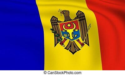 vliegen, vlag, looped, |, moldavië