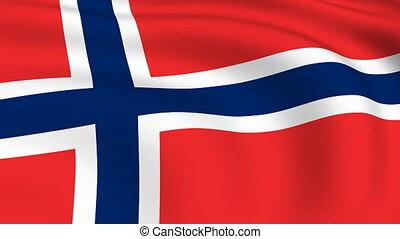 vliegen, vlag, looped, noorwegen, |