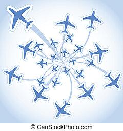 vliegen, vliegtuigen