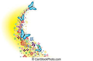 vliegen, vlinder