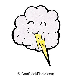 vliegensvlug schuifslot, wolk, spotprent