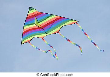 vlieger, veelkleurig
