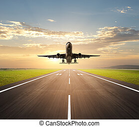 vliegtuig daling
