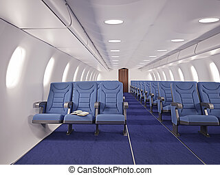 vliegtuig, interieur