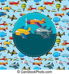 vliegtuig, kaart