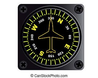 vliegtuig, kompas