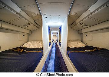 vliegtuig, luxe, cabinepersoneel