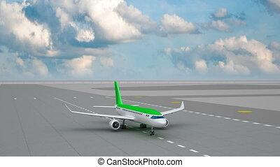 vliegtuig nemen van, van, luchthaven