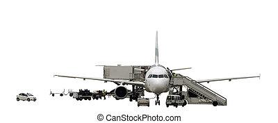 vliegtuig, onderhoud