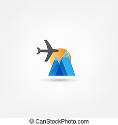 vliegtuig, pictogram
