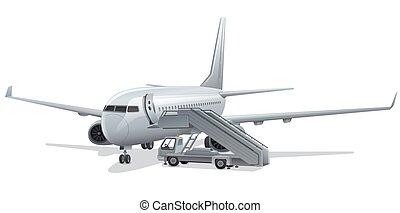 vliegtuig, straalvliegtuig, passagier