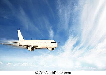 vliegtuig, vasten