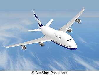 vliegtuig, vliegen, straalvliegtuig
