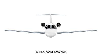 vliegtuig, vrijstaand, straalvliegtuig